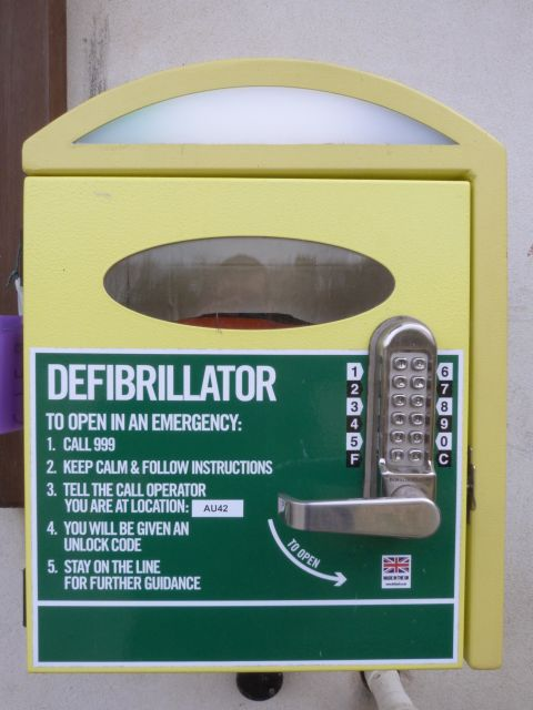 Toller village hall defibrillator