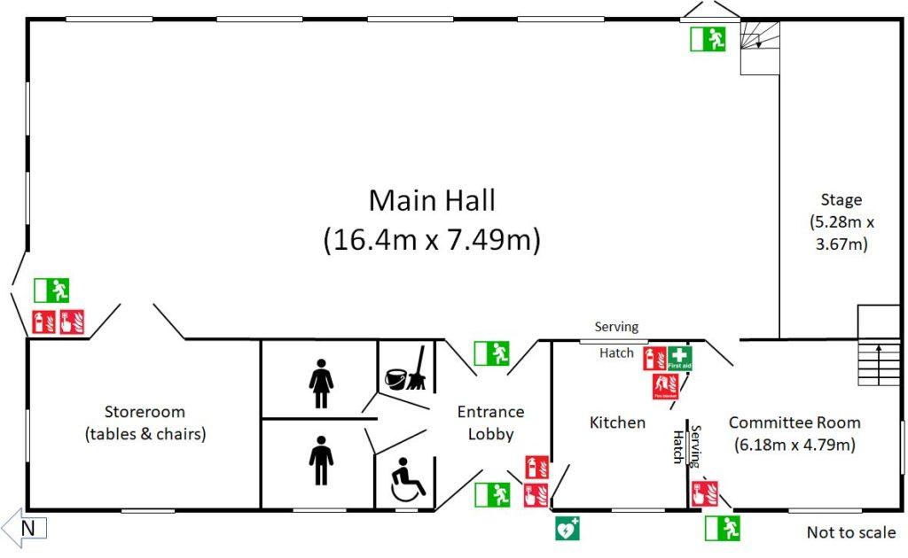 Toller porcorum village hall floor plan